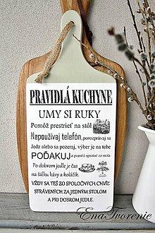 Dekorácie - Lopárik Pravidlá kuchyne - 8367903_