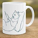 Nádoby - Čítajúca mačka - 8369104_
