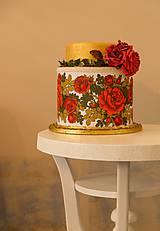 dekoračný box / svadobná torta Frida