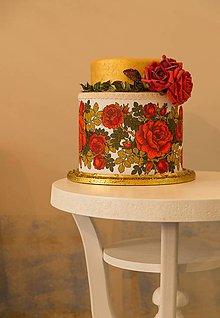 Krabičky - dekoračný box / svadobná torta Frida - 8368805_