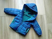 Detské oblečenie - Modrá vetrovka - 8369191_