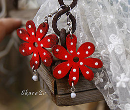 Náušnice - Dotted flower - 8368326_