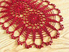 Úžitkový textil - Oválna bordová dečka - 8368796_