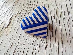 Odznaky/Brošne - geometrická námorníčka-menšia brošňa - 8368697_