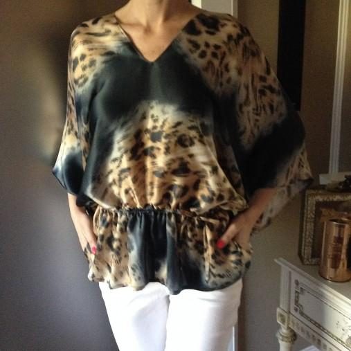 e87c553d8e Hodvábna kimonová blúzka TIGER   LuxuryCouture - SAShE.sk - Handmade ...