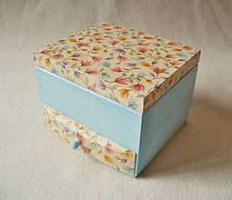 Krabičky - Drevená šperkovnica so zrkadlom - 8371171_