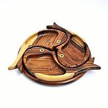 Nádoby - Tácka drevená Tri Rybičky | 3 Fish Snack plate - 8371901_