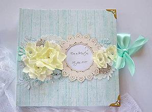 Papiernictvo - Svadobný album pastelový - 8369624_