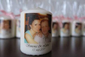 Drobnosti - Sviečky s vlastnou potlačou - 8371882_