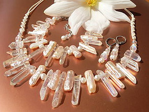 Sady šperkov - Perlová sada bohyně Ixchel - 8371424_