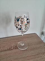 Nádoby - Pohár na víno Modrá Nitra - 8372260_