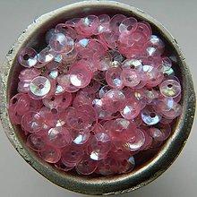 Iný materiál - Flitre lomené ružové AB 4mm - 8371309_