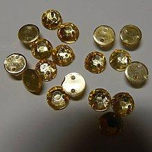 Iný materiál - Našívacie kamienky kruhové 6mm plastové - 8371665_