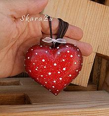 Náhrdelníky - Big Heart dots / 3D - 8371977_