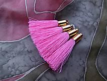 - Strapce hodvábne ružové - pár - 8370507_