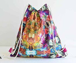 Batohy - Sunnylife (colorful) nepremokavý šnúrkový vak - 8374542_