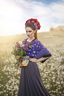 Ozdoby do vlasov - Červená svadobná kvetinová parta - 8375465_