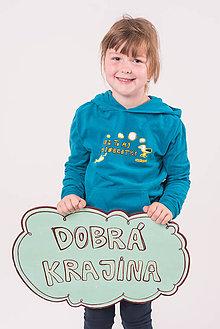 Detské oblečenie - Dobrá krajina: IDE TO AJ PO DOBROTKY detská mikina - 8373860_