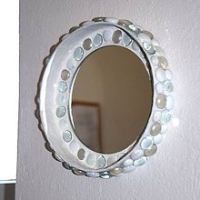 Zrkadlá - Zrkadlo mozaika Biela - 8373408_