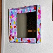 Zrkadlá - Štvorcové zrkadlo Pre malé slečny - 8373707_