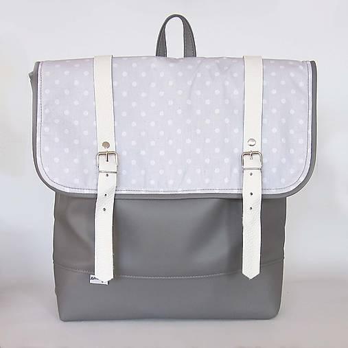 Aktovkový batoh (Sivo biely)