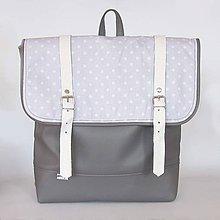 Batohy - Aktovkový batoh (Sivo biely) - 8372423_