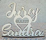 Dekorácie - Mená na stojane s dátumom - 8375513_