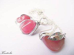 Sady šperkov - Moje milé jahôdky......sada (jahodový kremeň) - 8373472_