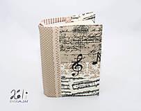 - Hudobný obal na knihu - Noty - 8375205_