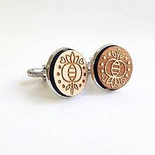 Šperky - Manžetové gombíky folk - 8373816_
