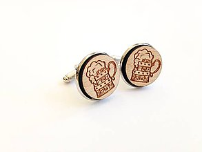 Šperky - Manžetové gombíky Pivko - 8373968_