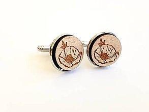 Šperky - Manžetové gombíky Divý mak - 8374000_