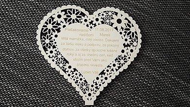 Darčeky pre svadobčanov - Poďakovanie rodičom 1 - 8373674_