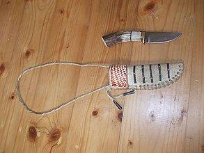 Nože - Nôž s indiánskym púzdrom na krk - 8374852_