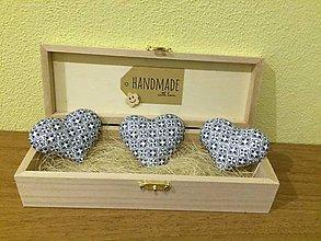 Drobnosti - Handmade magnetky srdiecka folk - 8373578_
