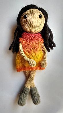 Nezaradené - NÁVOD na štrikovanú bábiku Johanku - 8375416_