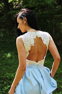 Topy - Svadobné body s holým chrbátom rôzne farby - 8372823_