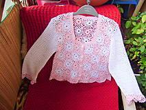 Detské oblečenie - Detské háčkované svetríky - 8373756_