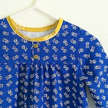 Detské oblečenie - košuľka Ruženka Šípkovie Modrotlač stajl - 8374051_