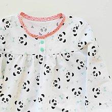 Detské oblečenie - košuľka Ruženka Šípkovie Panda - 8374080_