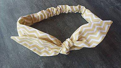 Ozdoby do vlasov - Čelenka žlto -biela cik cak - 8373917_