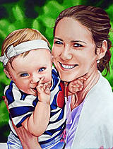 Kresby - Pastelkový portrét - na objednávku - 8374181_