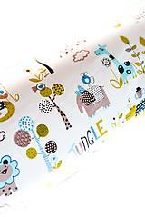 Úžitkový textil - _HAJA & Farebné ZOO & tyrkysová... 170 cm - 8376889_
