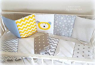 Textil - Mantinel Basic 240x30cm so žltým mackom - 8378151_