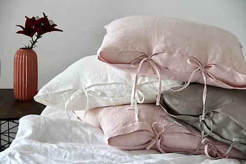 Úžitkový textil - Ľanový vankúš 50X50 - 8376134_