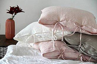 Úžitkový textil - Ľanový vankúš  (50x50 - Modrá) - 8376134_