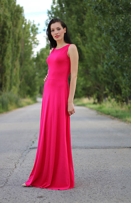 cbd6f942a2af Dlhé šaty s krížom na chrbte   ZuzanaZachar - SAShE.sk - Handmade Šaty