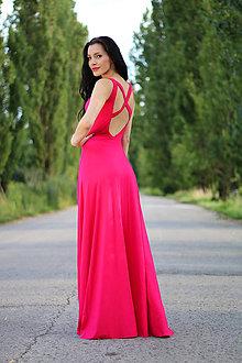 Šaty - Dlhé šaty s krížom na chrbte - 8377616_