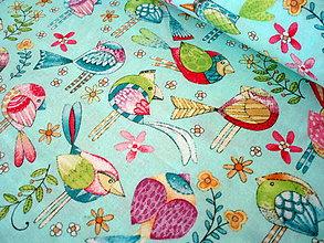 Textil - Dizajnová bavlna Tweet Me - 8377404_