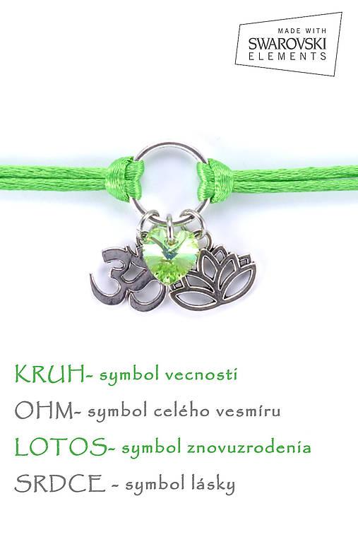 KARMA náramok zelený